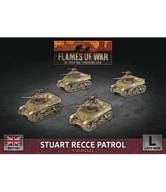 Flames of War Stuart Recce Patrol (Plastic)
