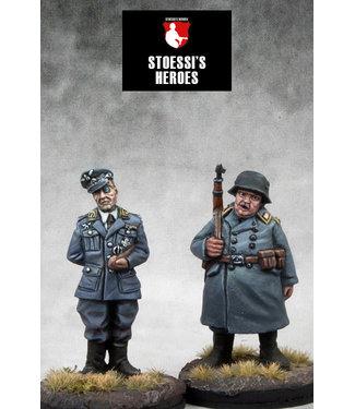 Stoessi's Heroes German Kommandant Oberst Wilhelm Klink & Oberfeldwebel Hans Georg Schultz