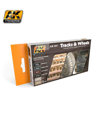 AK interactive Track and Wheels Acrylic Set