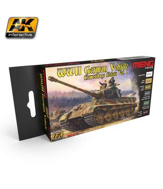 AK interactive WW2 german vehicle camouflage colors vol.1