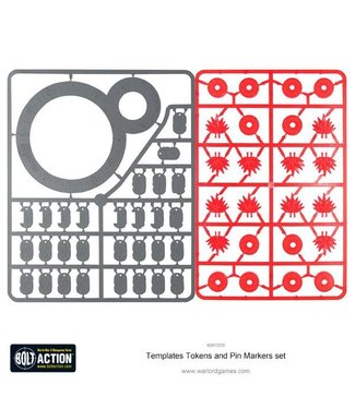 Bolt Action Templates, Tokens and Pin Markers set