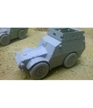 Blitzkrieg Miniatures Autoblindo AS37 Armoured Roof - 1/56 Scale