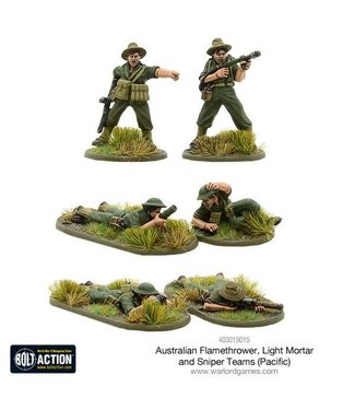 Bolt Action Australian flamethrower, light mortar and sniper teams (Pacific)