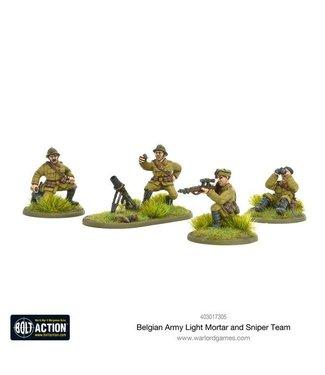 Bolt Action Belgian Army light mortar & sniper teams