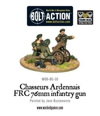 Bolt Action Belgian Chasseurs Ardennais FRC 76mm infantry gun