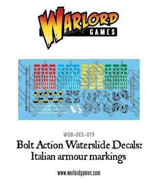 Bolt Action Italian Armour decal sheet