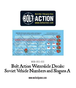 Bolt Action Soviet slogans and numbers A decals