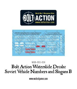 Bolt Action Soviet slogans and numbers B decals
