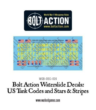 Bolt Action US tank codes and Stars & Stripes decal sheet