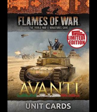 Flames of War Avanti Unit Cards