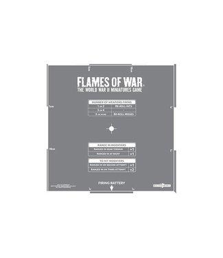 Flames of War Artillery Template