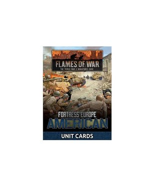 Flames of War Fortress Europe: American Unit Cards