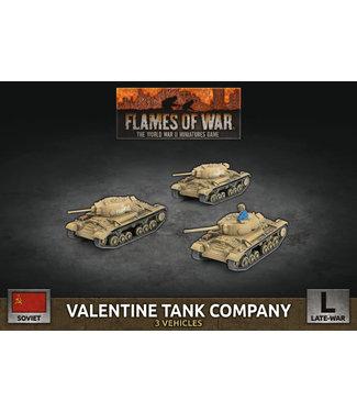 Flames of War Valentine Tank Company (Plastic)