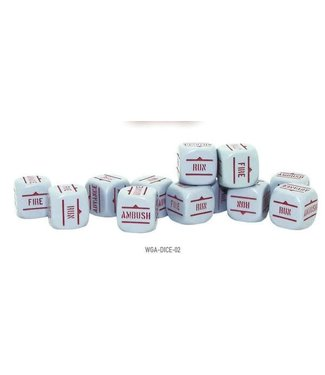 Bolt Action Order Dice - Grey with Red