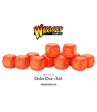 Bolt Action Order Dice - Red