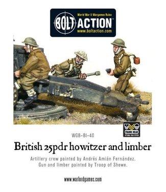 Bolt Action British 25 pdr Howitzer & Limber