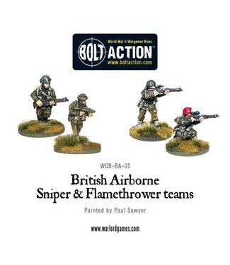 Bolt Action British Airborne Flamethrower and sniper teams