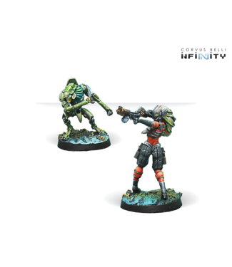 Infinity Raicho Pilot & Scindron Ancillary Remote Unit (Combined Army TAG Pilots Set)