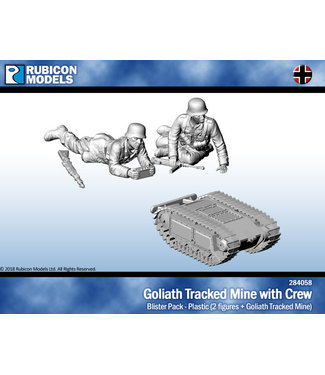Rubicon Models Goliath Tracked Mine with Crew (PLASTIC)