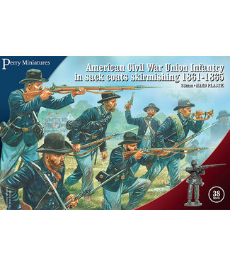 Perry Miniatures American Civil War Union Infantry in sack coats skirmishing 1861-65