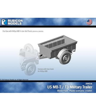 Rubicon Models US Jeep MB-T / T3 Military Trailer
