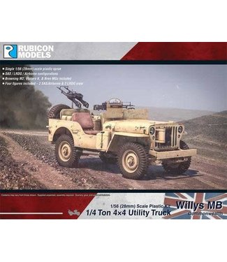 Rubicon Models Willys MB 1/4 ton 4x4 Truck - Commonwealth