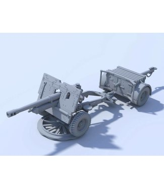 Blitzkrieg Miniatures 25 Pdr QF with & without Muzzle Brake - 1/56 Scale