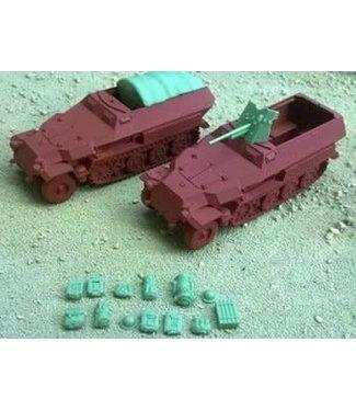 Blitzkrieg Miniatures 251/Ausf C Variants - 1/56 Scale