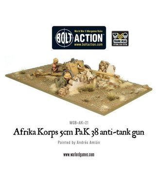 Bolt Action Afrika Korps 5cm PaK 38 anti-tank gun
