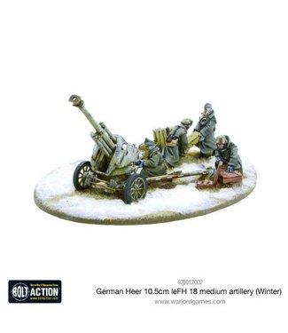 Bolt Action German Heer 10.5cm leFH 18 medium artillery (Winter)