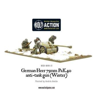 Bolt Action German Heer 75mm Pak 40 anti-tank gun (Winter)