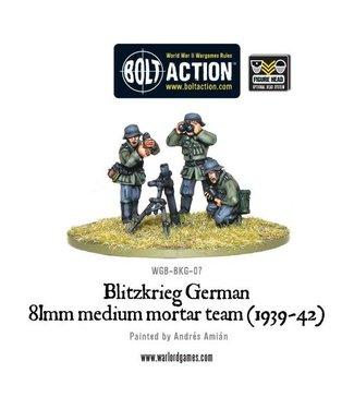 Bolt Action Blitzkrieg German 81mm medium mortar team (1939-42)