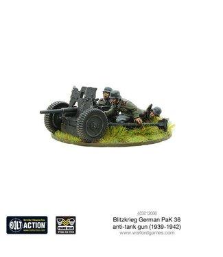 Bolt Action Blitzkrieg German Pak 36 anti-tank gun