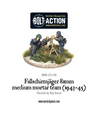 Bolt Action Fallschirmjager 81mm medium mortar team (1943-45)