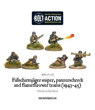 Bolt Action Fallschirmjager sniper, panzerschreck and flamethrower teams (1943-45)
