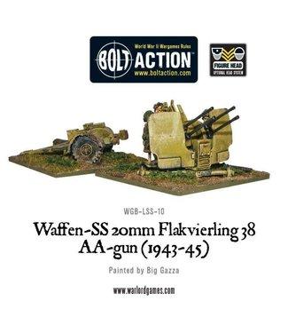 Bolt Action Waffen-SS 20mm Flakvierling 38 AA-gun (1943-45)