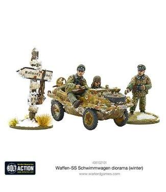 Bolt Action Waffen-SS Schwimmwagen diorama (winter)