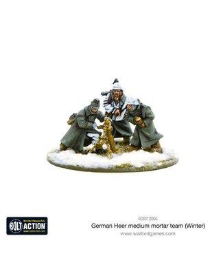 Bolt Action German Heer Medium Mortar team (Winter)