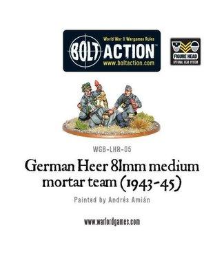 Bolt Action German Heer 81mm medium mortar team (1943-45)