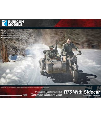 Rubicon Models German Motorcycle R75 with Sidecar - ETO