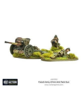 Bolt Action French Army 47mm medium anti-tank gun