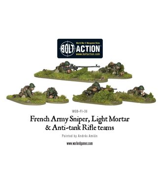 Bolt Action French Army Sniper, Light Mortar and Anti-tank Rifle teams
