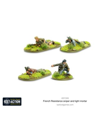 Bolt Action French Resistance Sniper and Light Mortar Teams
