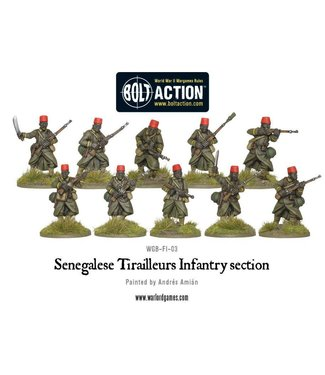 Bolt Action Senegalese tirailleurs infantry section