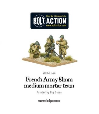 Bolt Action French Army 81mm medium mortar team