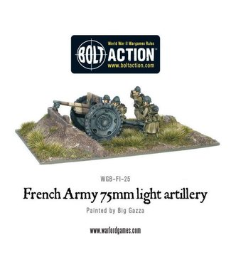 Bolt Action French Army 75mm light artillery