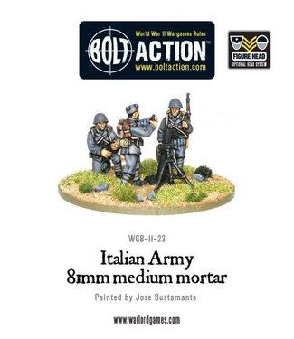 Bolt Action Italian Army 81mm mortar (all heads)