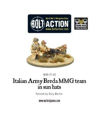 Bolt Action Italian Army Breda MMG (all heads)