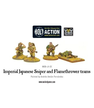 Bolt Action Imperial Japanese Sniper and Flamethrower teams