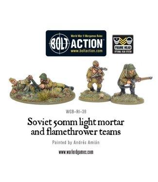 Bolt Action Soviet 50mm light mortar and Flamethrower teams